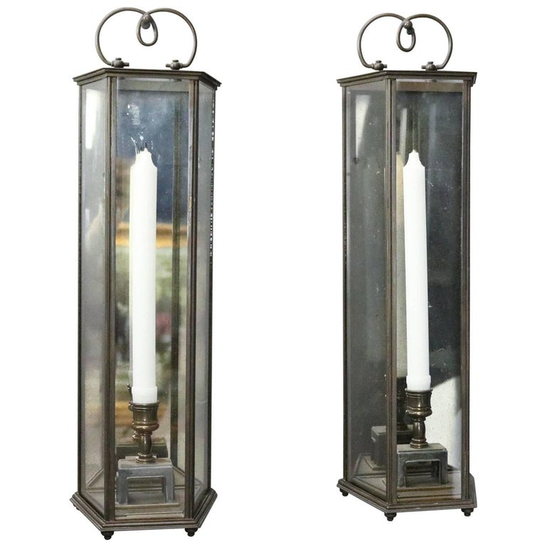 Pair Of Vintage Bronze Colonial Williamsburg Style Candle