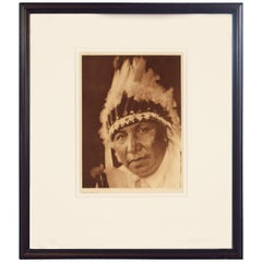 Lone Chief Oto Photograph by Edward S. Curtis, 1927