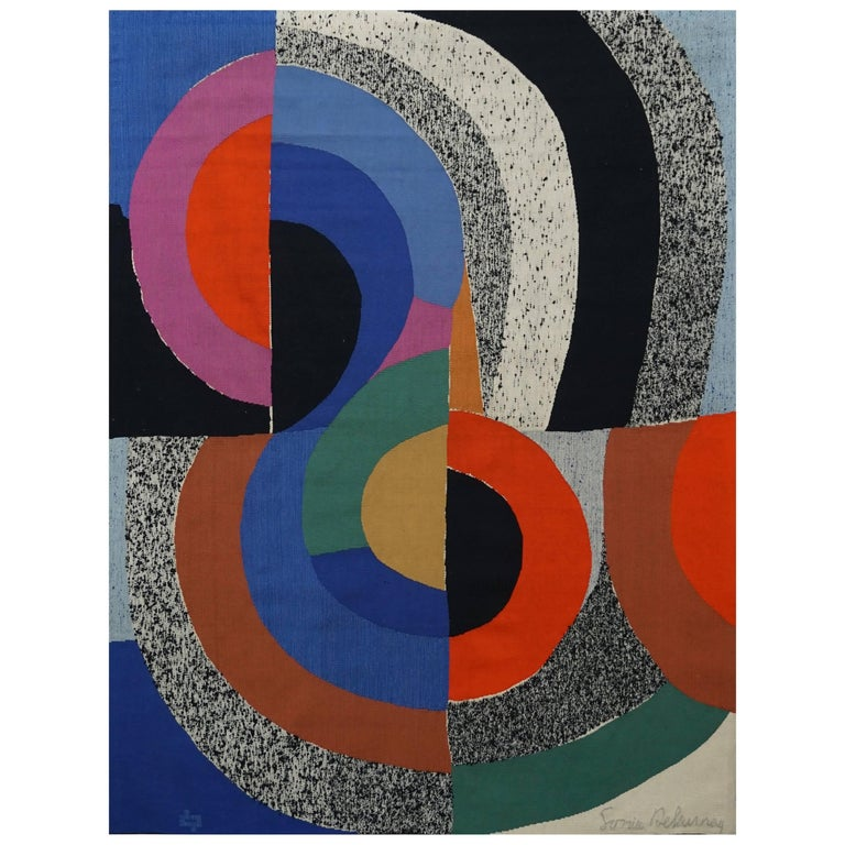 Sonia Delaunay, Hippocampe, Unique Signed Tapestry 1