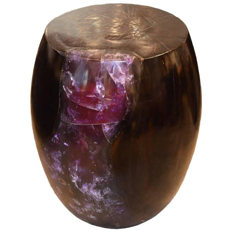 Andrianna Shamaris Cracked Resin Side Table 1