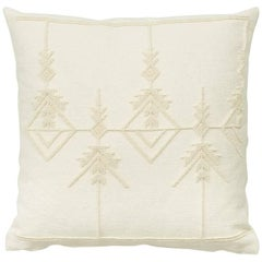"Schumacher Artigianale Italian Handwoven Cotton Wool White Two-Sided 23"" Pillow"