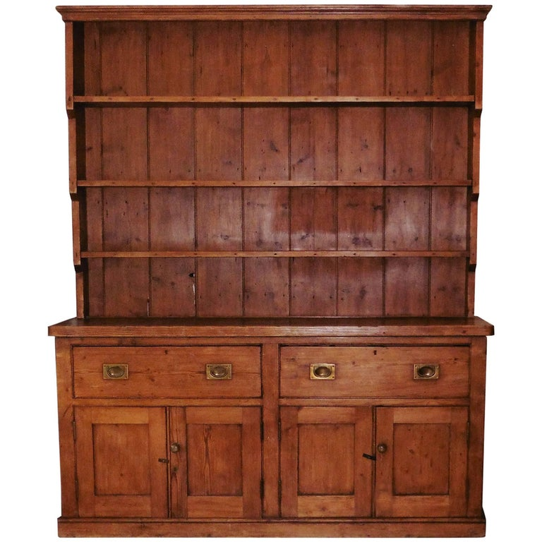 19th Century English Pine Welsh Dresser