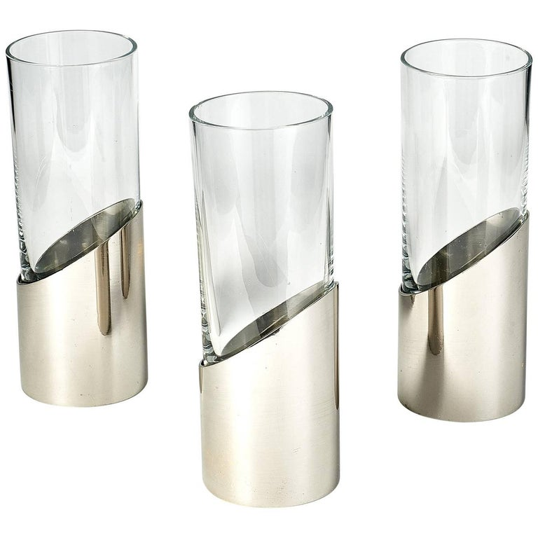 Set of Three Vases by Gabriella Crespi, 1970s For Sale