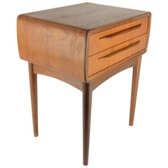 Teak Danish Nightstand by Johannes Andersen for CFC Silkeborg, 1960s