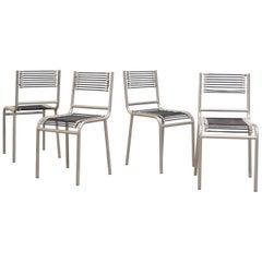 René Herbst Nickel-Plated Sandows Chairs