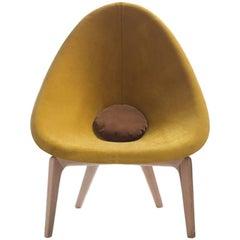 Delta-förmiger Sessel aus Kiefernholz von Javier Herrero