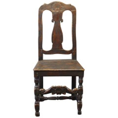 Baroque Chair of Painted Wood, circa 1860s