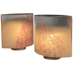 "Pair of ""Idra"" Table Lamps by Toso for Leucos"