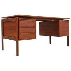 Danish Teak Desk by G.v. Gasvig for G.V. Møbler, 1960s