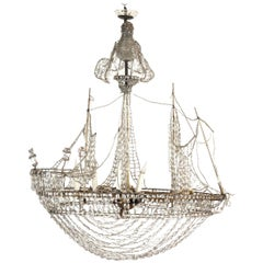 Caravel Shape Crystal Chandelier