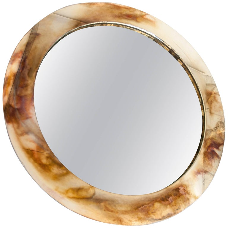 Life Mirror, Tridimensional Art Glass Silvering central Actual Mirror by sabrina