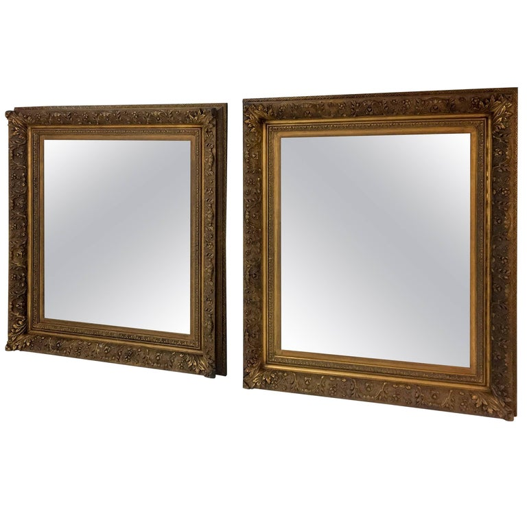 Two 19th Century, Dutch Feather Frame Mirrors
