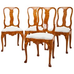 Dutch Baroque Dining Chairs, 18th Century