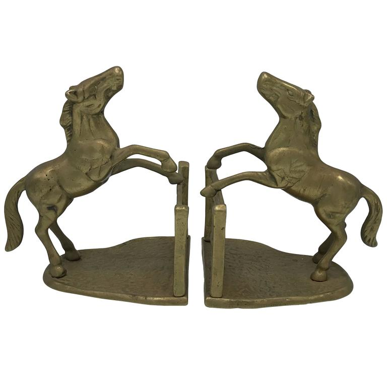 1970s Horse Bookends, Pair For Sale