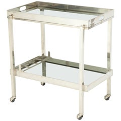 Christofle Silver Plate Bar Cart
