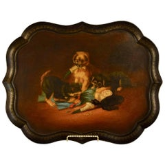 19th Century B.Walton & Co. Papier Mâché Tray