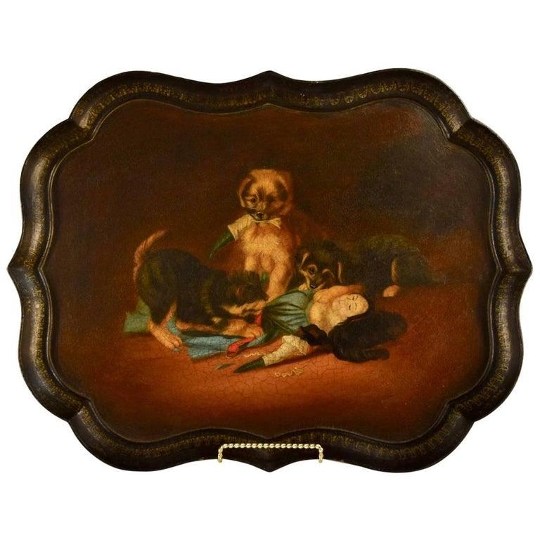19th Century B.Walton & Co. Papier Mâché Tray For Sale