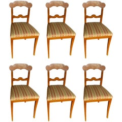 Set of Six Gustavian Chairs, Sweden, 1830