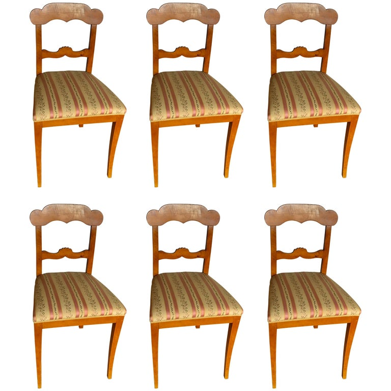 Set of Six Gustavian Chairs, Sweden, 1830 For Sale