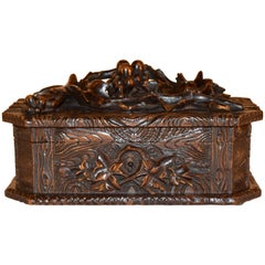 19th Century Black Forest Carved Box