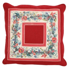 Vintage Floral Trim Pillow