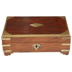 Vintage Brass and Wood Box