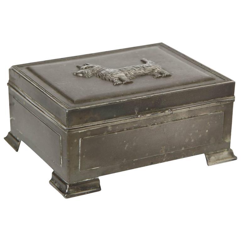 Scottie Brass Box For Sale