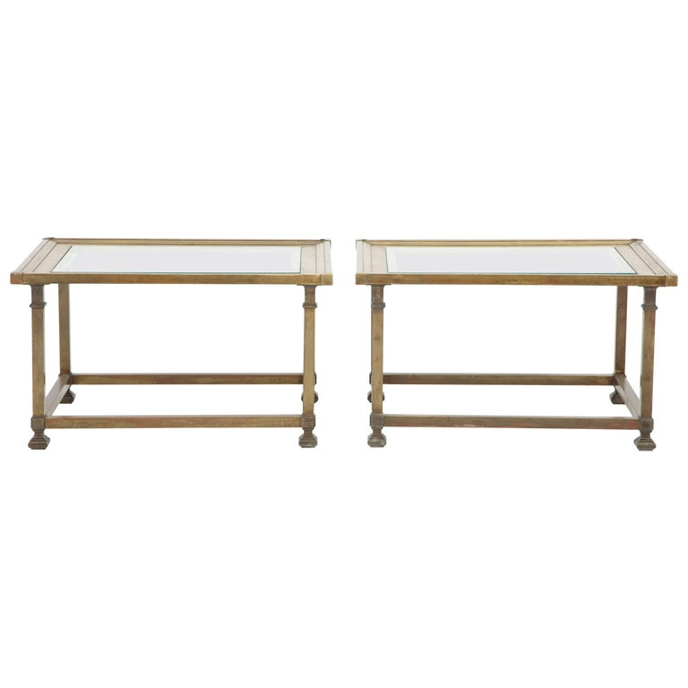 Pair of Brass Mastercraft Coffee Table