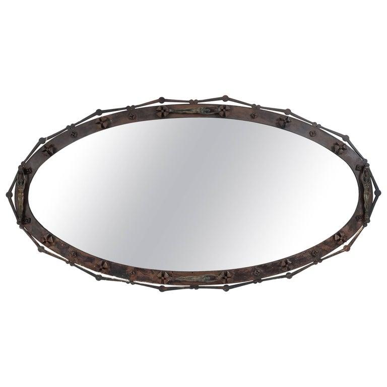 Massive and Unique Arturo Di Modica Mirror, One of a Kind