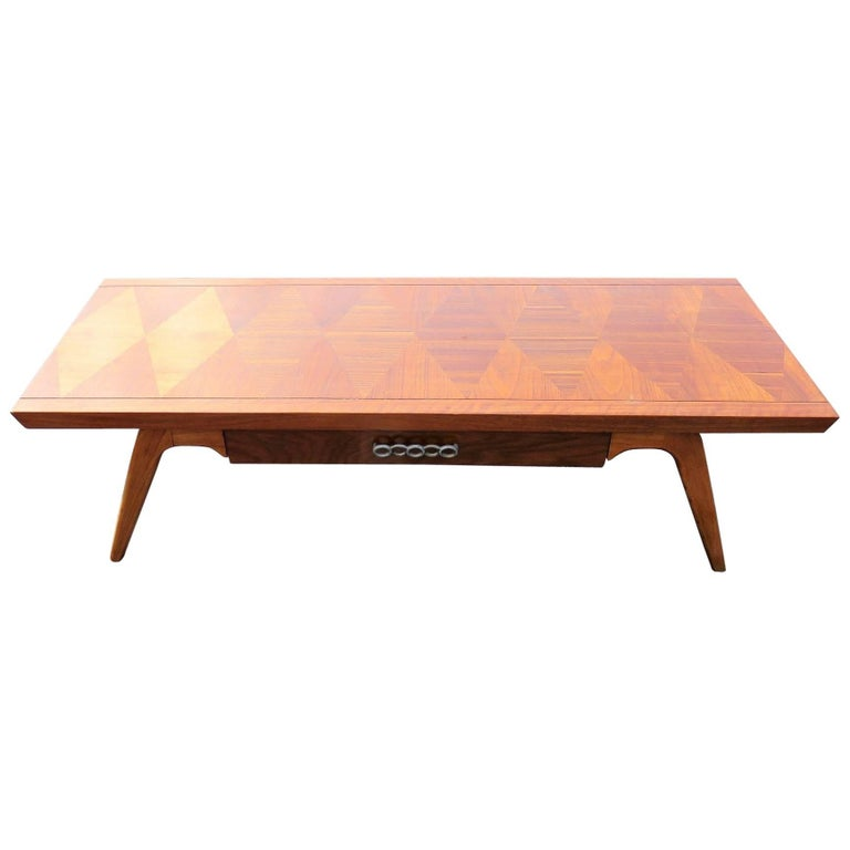 Lane Blonde Coffee Table: Lane Modern Design Inlaid Coffee Table For Sale At 1stdibs
