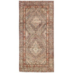 Early 20th Century Antique Khotan Rug with Paired Medallions in Gray and Red