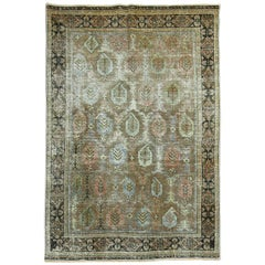 Antique Shabby Chic Persian Paisley Rug