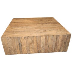 Reclaimed Wood Geometric Form Coffee Table or Console