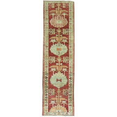 Vintage Turkish Anatolian Red Runner