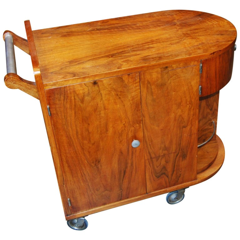 Wonderful Mid-Century French Bar Cart For Sale