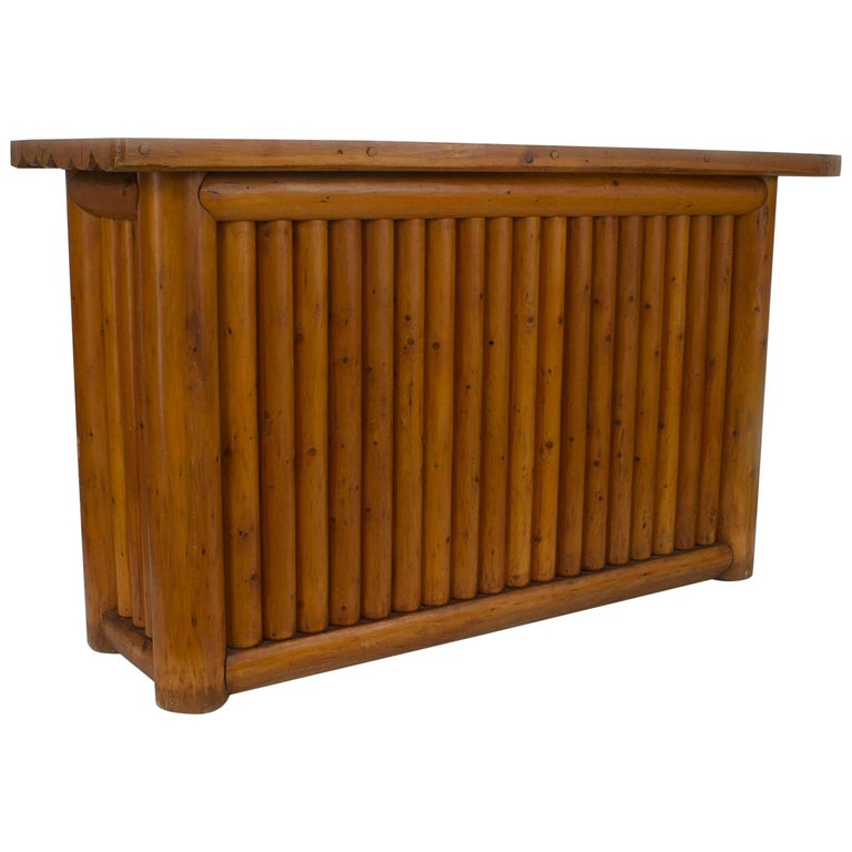 Rustic Old Hickory Pine Dry Bar By Rittenhouse For Sale At