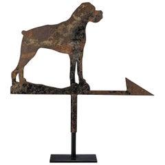20th Century Silhouette Boxer Dog Weathervane