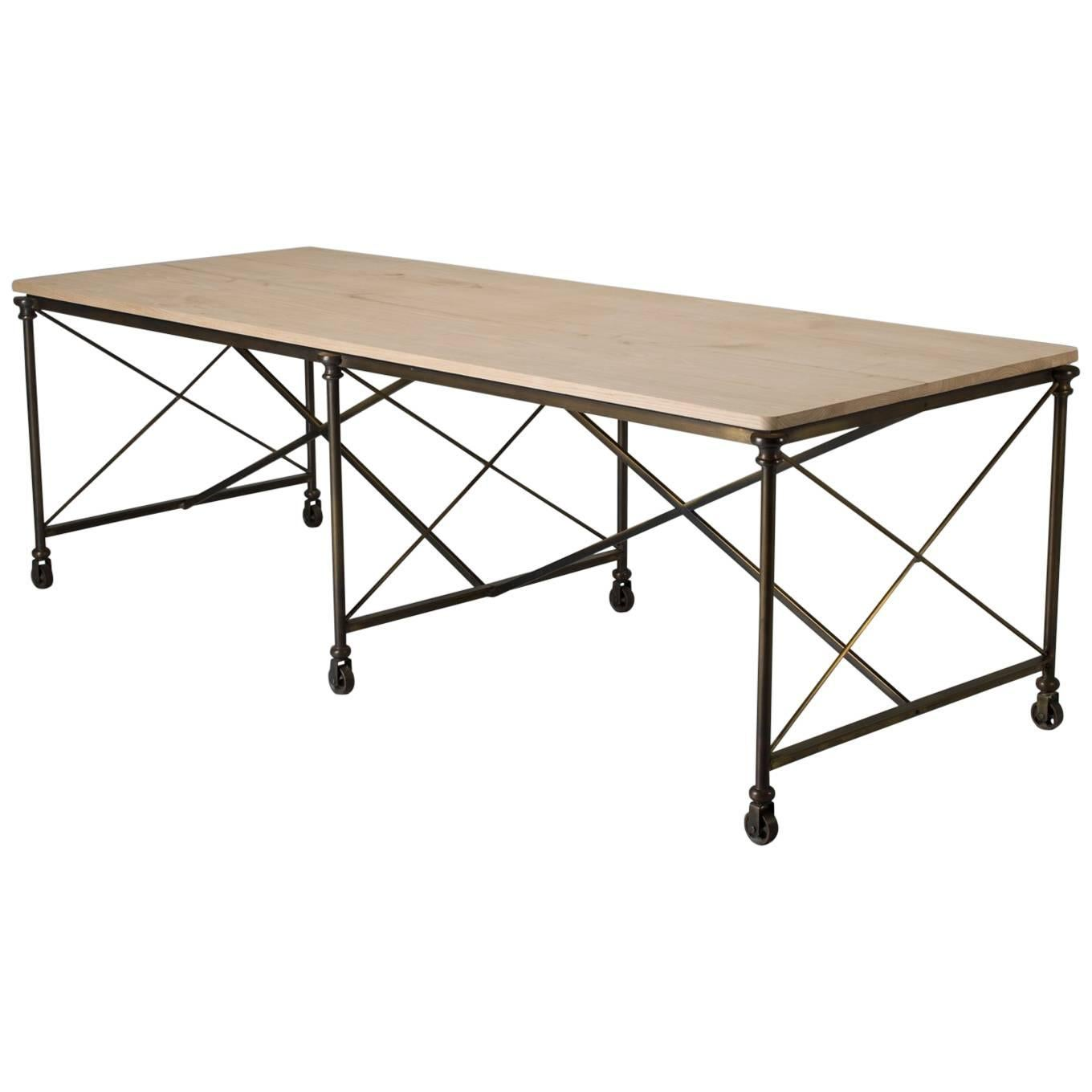 Bronze Dining Table with an Ashwood Top