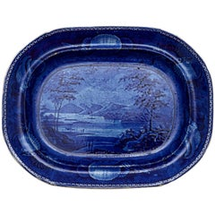 Lake George, State of New York Staffordshire Platter by Enoch Wood & Sons
