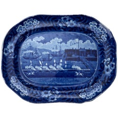 Landing of General Lafayette Staffordshire Platter by James & Ralph Clews