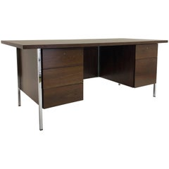 1952 Walnut Executive Desk by Florence Knoll for Knoll Associates