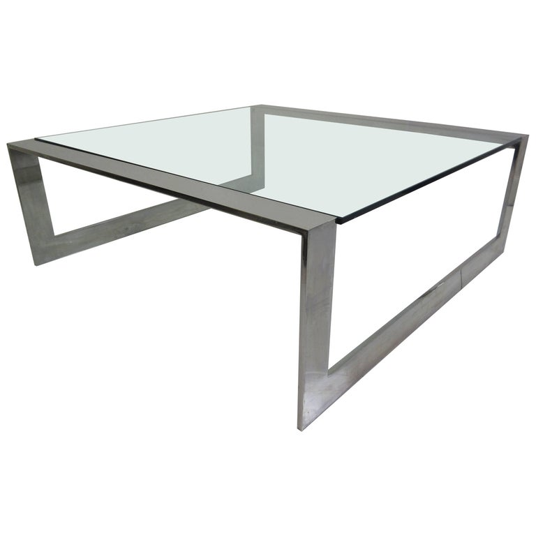 Lee Rosen for Pace Aluminum and Glass Coffee Table 1