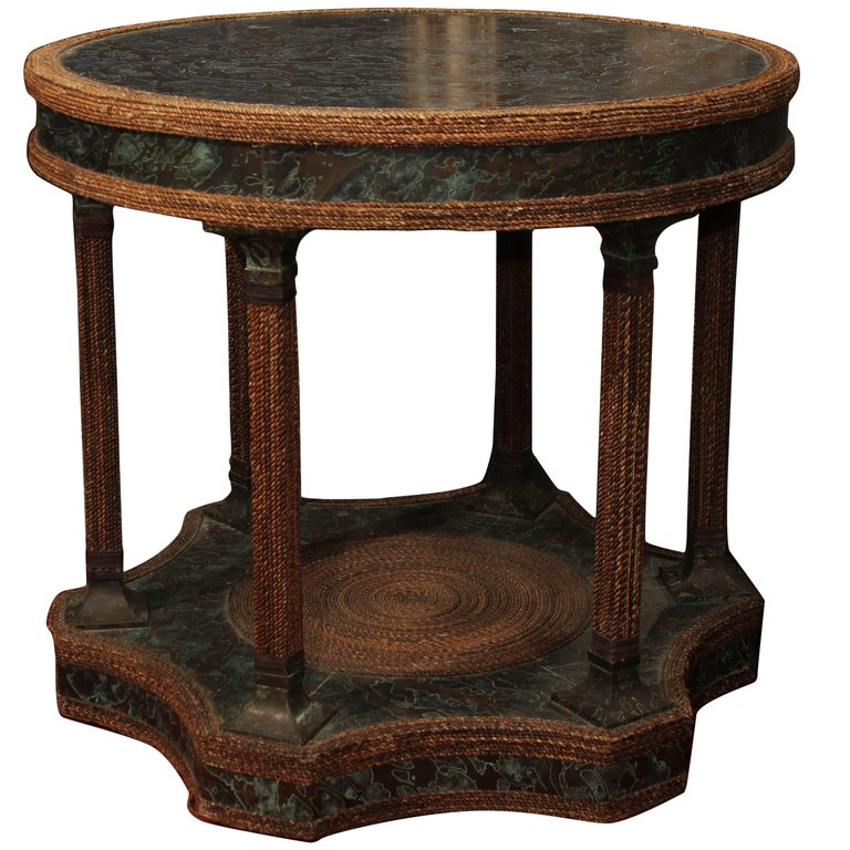Bronze Clad Entry or Centre Table For Sale