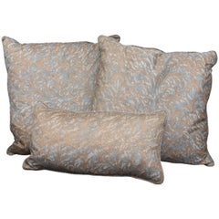 Group of Three Fortuny and Linen Pillows