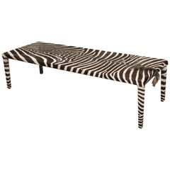 Long Zebra Mid-Century Modern Table or Bench