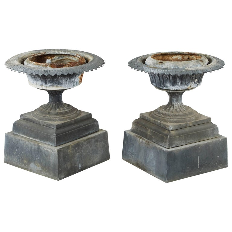 Pair of 19th Century English Garden Urns