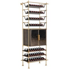 Amuneal S Collector Wine Shelving And Storage Unit With Br Clad Cabinet