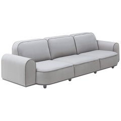In Stock, Arcolor Sofa by Jamine Hayon for Arflex, Contemporary Three-Seat Sofa
