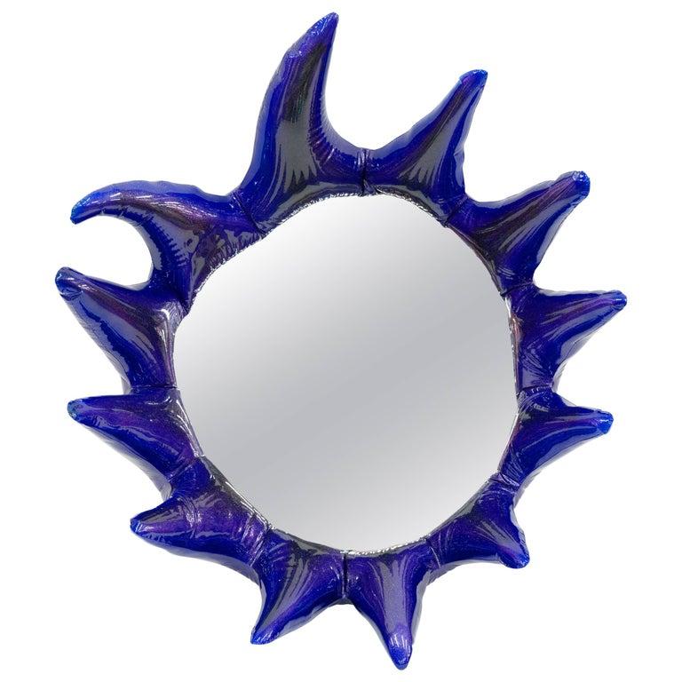 Misha Kahn, Purple Wall Mirror, Resin, Automotive Paint For Sale