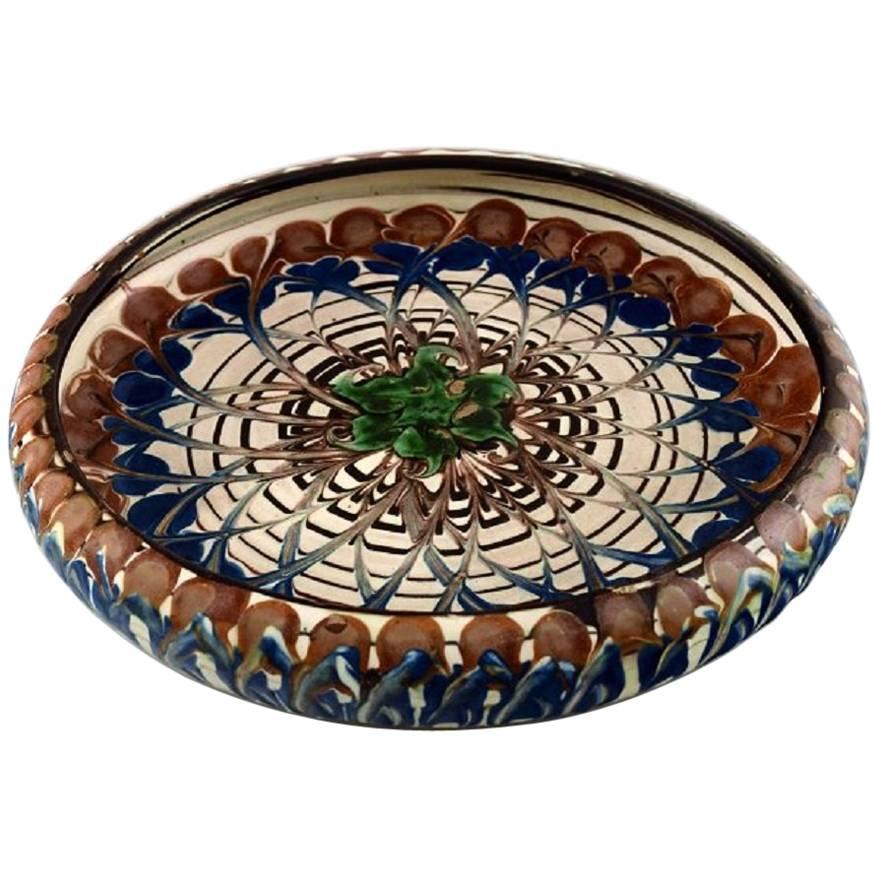 Kahler, Denmark, Glazed Stoneware Dish Bowl, circa 1940s